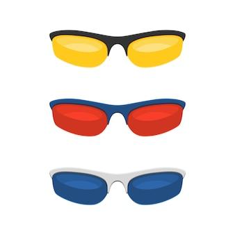 Bunte sportsonnenbrille