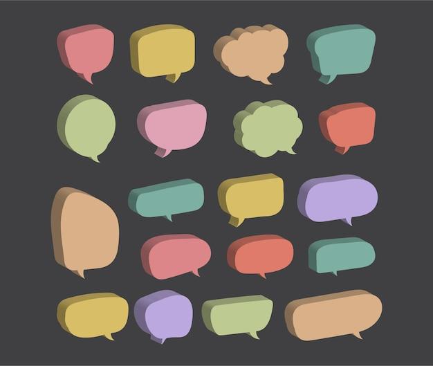 Bunte sprechblase geschnittene papier-design-vorlage vektor-illustration für ihre geschäftspräsentation
