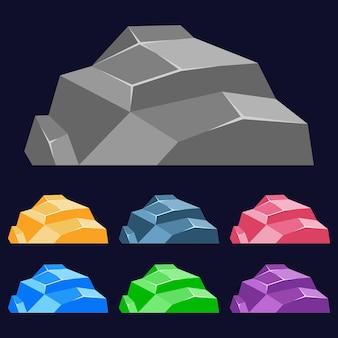 Bunte stein 2 spiel asset