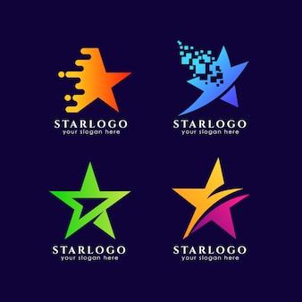 Bunte stern-logo-vorlage