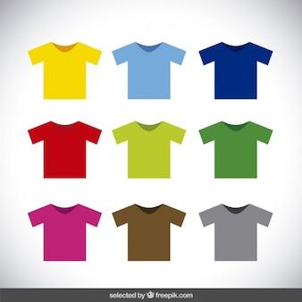 Bunte t-shirt kollektion