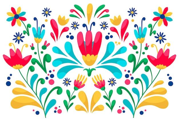 Bunte tapete mit mexikanischem design