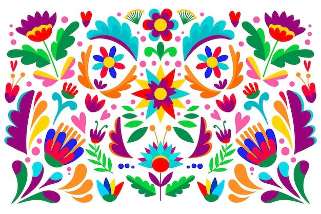 Bunte tapete mit mexikanischem konzept