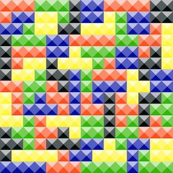 Bunte tetris-stücke, abstrakter hintergrund. bauklötze aus kunststoff
