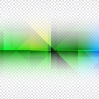 Bunte transparente polygonal hintergrund-design