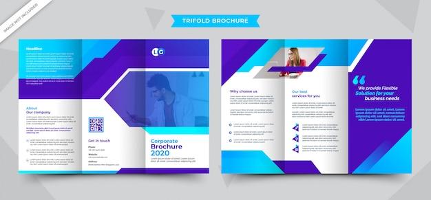Bunte trifold-broschüre
