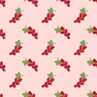 Bunte tropische frucht johannisbeere des nahtlosen hintergrundbildes