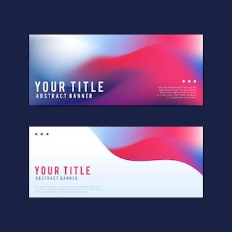 Bunte und abstrakte Banner Design-Vorlagen