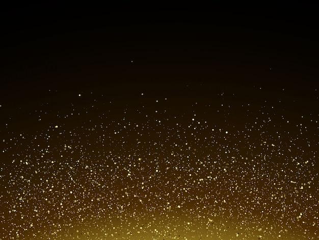 Bunte vektorabbildung mit goldenen dekorativen elementen über schwarzem hintergrund. abstrakte vorlagen für urlaub design