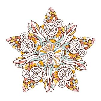 Bunte vektormandala. ornament für malbuchseiten oder designdekoration