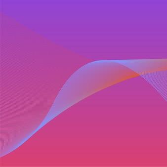 Bunte vibrierende welle 3d grafik