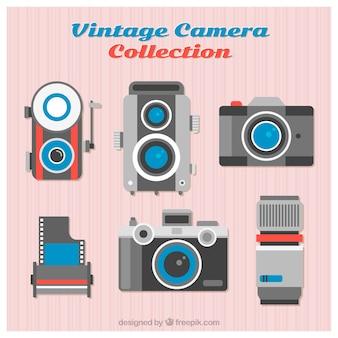 Bunte vintage kamera sammlung