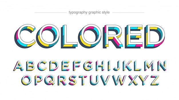 Bunte vintage typografie