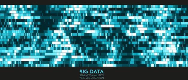 Bunte visualisierung von big data. futuristische infografik. informationsästhetisches design.