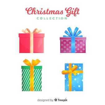 Bunte weihnachtsgeschenkkastensammlung