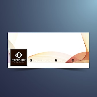 Bunte wellenförmige facebook-timeline-design