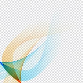 Bunte wellenförmiges design auf transparentem hintergrund