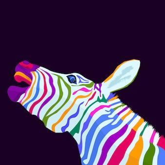 Bunte zebrakonzept-pop-art-art