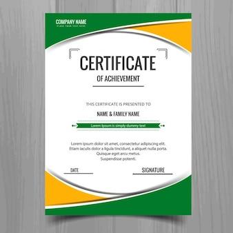 Bunte zertifikatvorlage