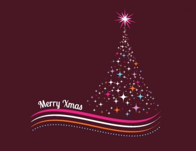 Bunten weihnachtsbaum mit sternen gemacht