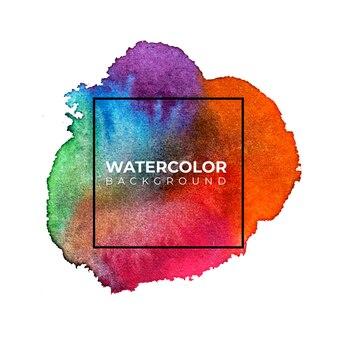 Bunter abstrakter aquarellhintergrund, handfarbe. farbspritzer auf dem papier.