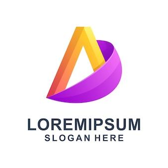 Bunter abstrakter buchstabe a logo premium