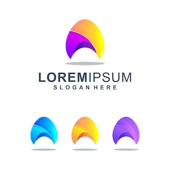 Bunter abstrakter buchstabe a logo template