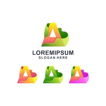 Bunter abstrakter buchstabe a logo