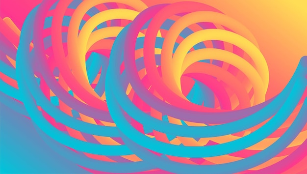 Bunter abstrakter flüssiger effekthintergrund flüssige formlandingpage