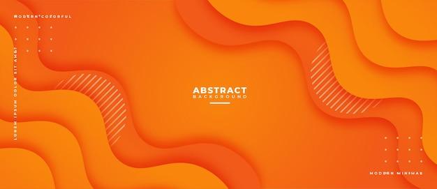Bunter abstrakter geometrischer banner-trendverlauf. flüssigkeit formt zusammensetzung.