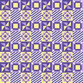 Bunter abstrakter geometrischer musterhintergrund in der quadratischen form.