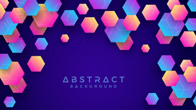 Bunter abstrakter hexagonhintergrund.
