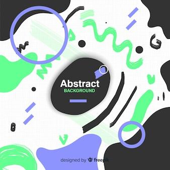 Bunter abstrakter hintergrund mit flachem design