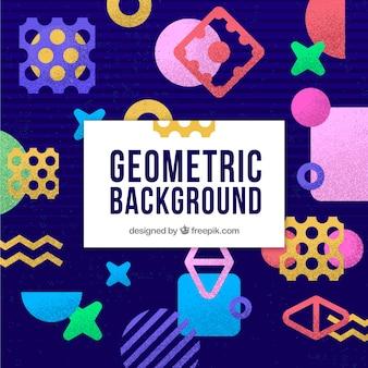Bunter abstrakter hintergrund mit geometrischen formen