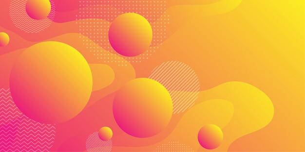 Bunter abstrakter hintergrund und abstufung unter verwendung der minimalen geometrie und der wellenform