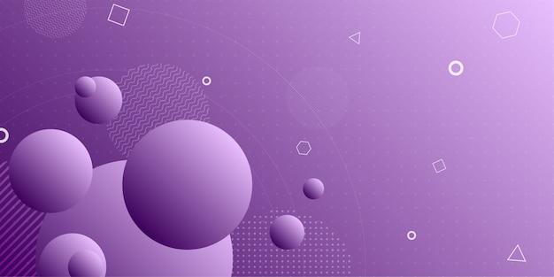 Bunter abstrakter hintergrund unter verwendung der minimalen geometrie
