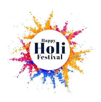 Bunter abstrakter holi indischer festivalhintergrund