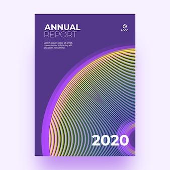 Bunter abstrakter schablonenjahresbericht