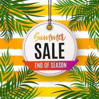 Bunter abstrakter sommerschlussverkauf-hintergrund