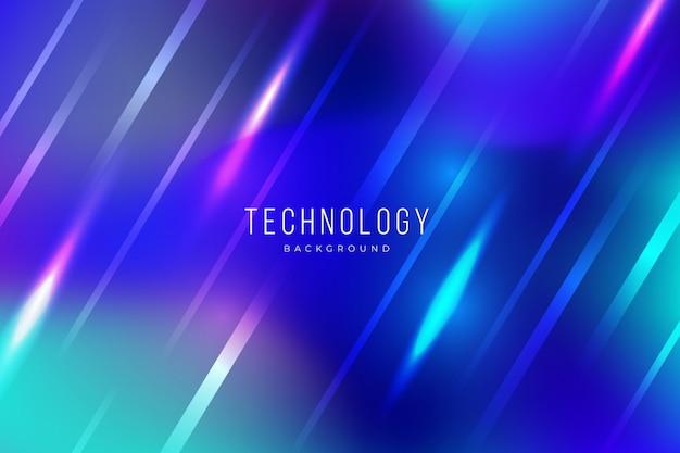 Bunter abstrakter technologiehintergrund mit lichteffekten