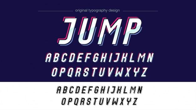 Bunter abstrakter typografie-entwurf