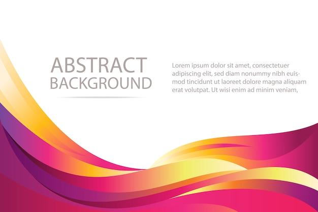 Bunter abstrakter violetter und orange wellenhintergrund