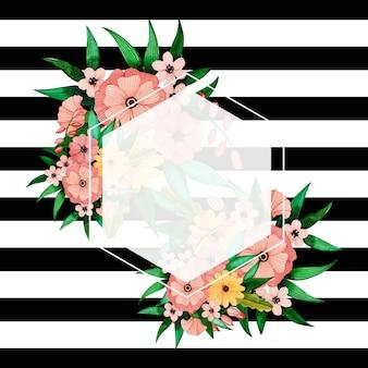 Bunter Aquarell-Blumenstreifen-neues Jahr-Hintergrund