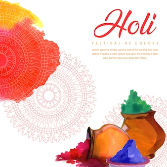 Bunter Aquarell Holi Fest Background