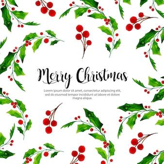 Bunter aquarell-weihnachtshintergrund