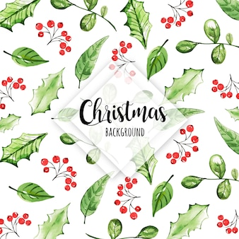 Bunter aquarell-weihnachtsmuster-hintergrund