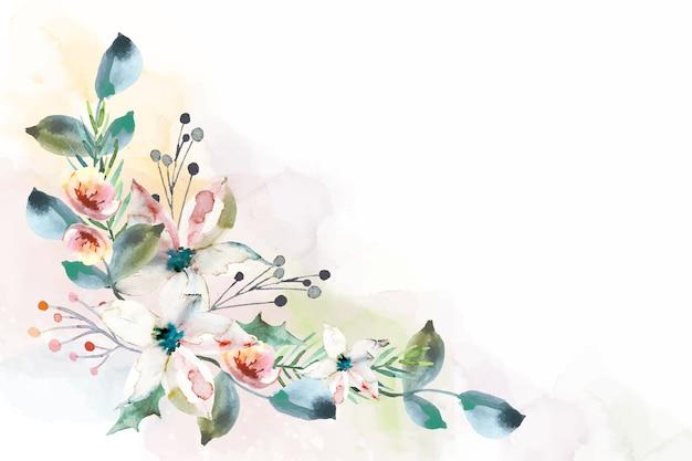 Bunter aquarellblumenhintergrund