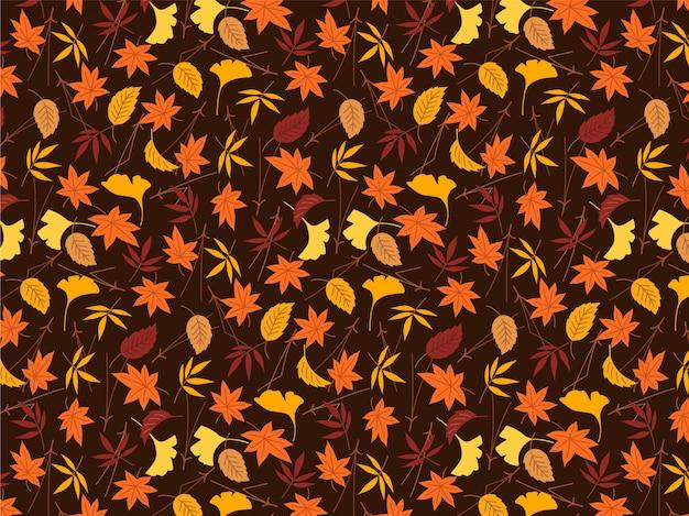 Bunter autumn leaves-muster hintergrund
