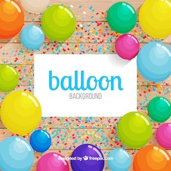 Bunter ballonhintergrund zu feiern