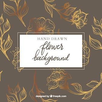 Bunter Blumenhintergrund mit Hand gezeichneter Art